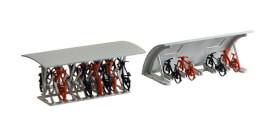 H0 2 Fahrradständer mit Rädern