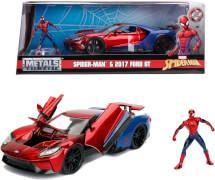 Jada Marvel Spiderman 2017 Ford GT 1:24