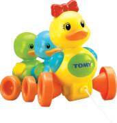 TOMY Babyspielzeug ''Entenfamilie'' mit Soundeffekt, hochwertiges Nachziehpielzeug mit farbenfrohem Design, ca. 21x30x16 cm, ab 10