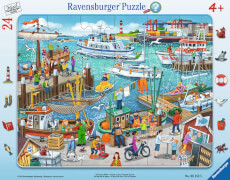 Ravensburger 06152 Puzzle: Ein Tag am Hafen 24 Teile