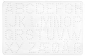 HAMA 250-272 Bügelperlen Midi - Stiftplatte Buchstaben, ab 5 Jahren