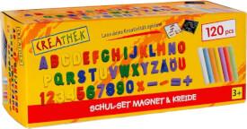 Creathek Schulset mit Magneten und Kreide, 120-teilig, ab 3 Jahren