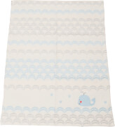 Baby- und Kinderdecke Finn Wal, 65x90 cm